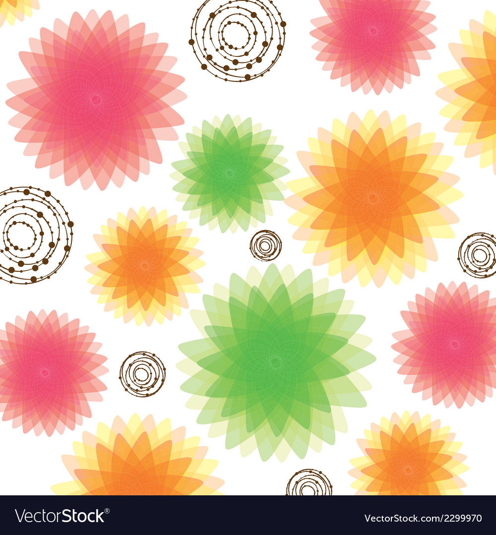 Lights glows and blurs in flowers vector | Price: 1 Credit (USD $1)