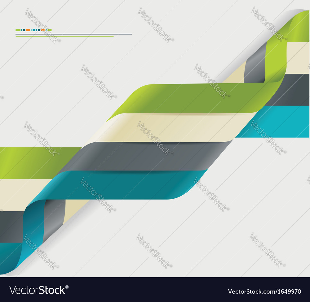 Modern spiral infographics options banner vector | Price: 1 Credit (USD $1)