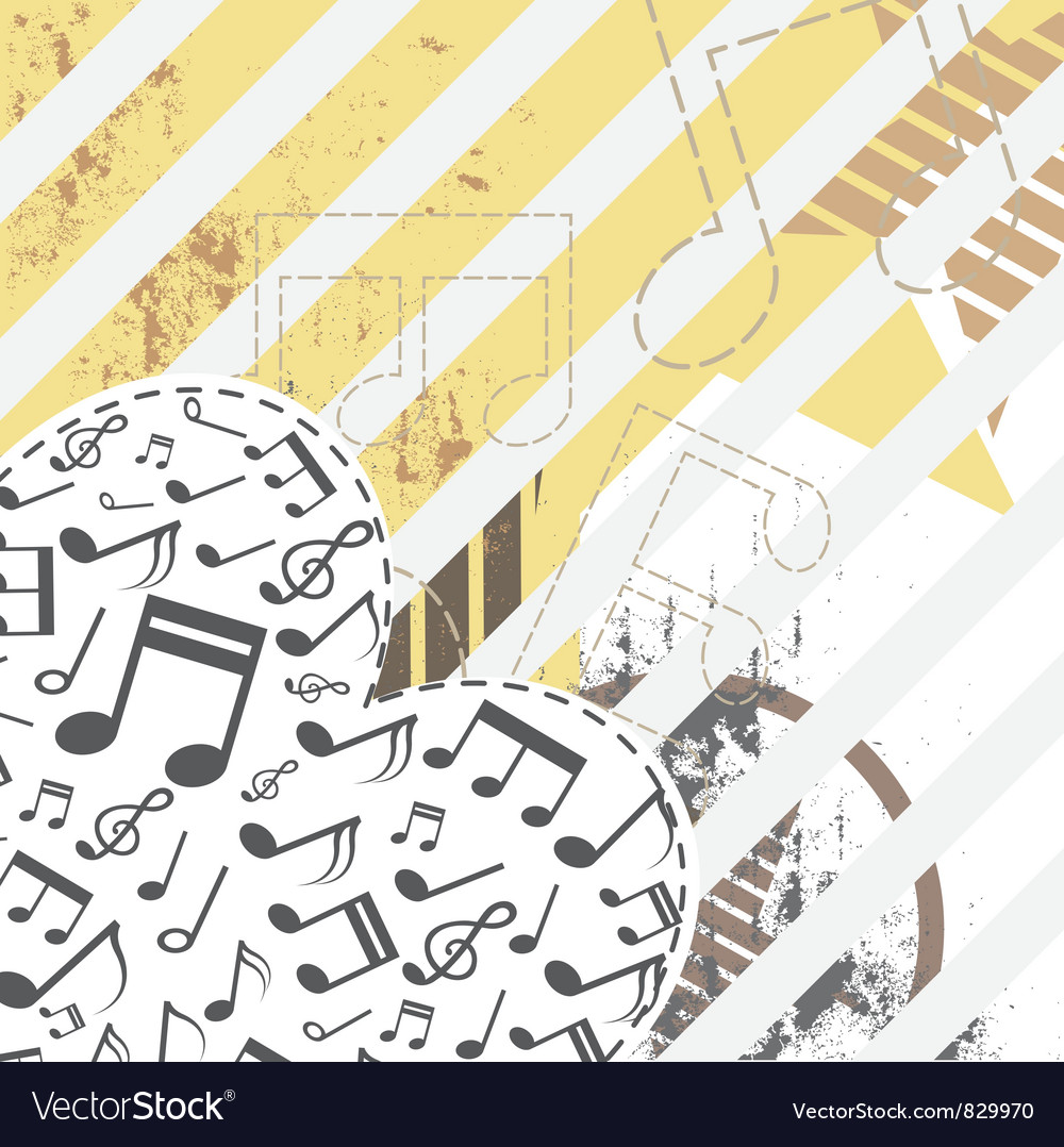 Music heart on grunge background vector | Price: 1 Credit (USD $1)