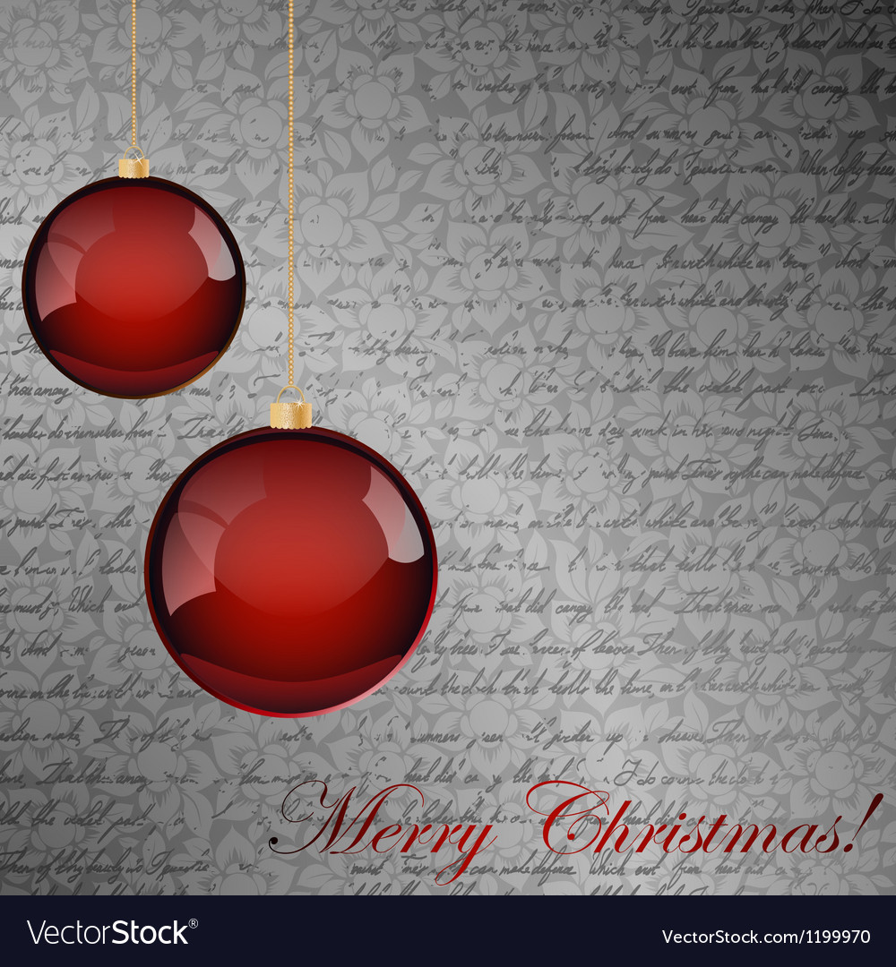 Red and gray christmas background vector | Price: 1 Credit (USD $1)