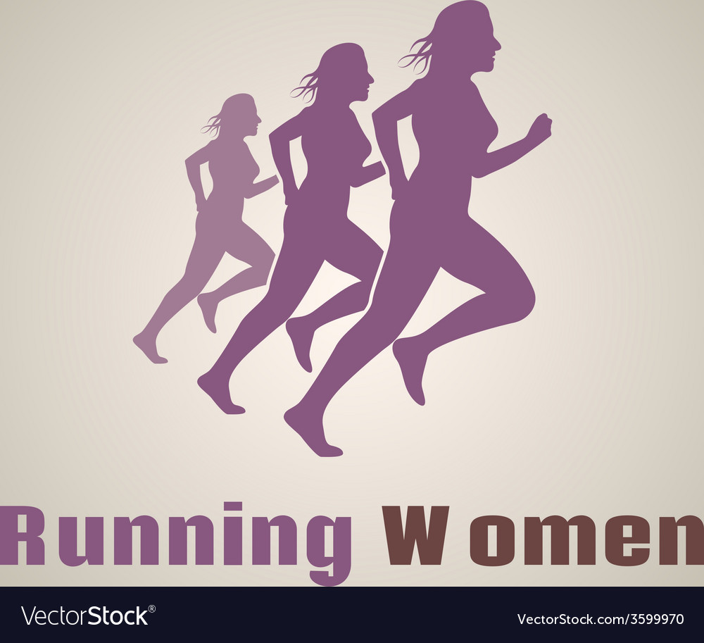 Running women logo vector | Price: 1 Credit (USD $1)