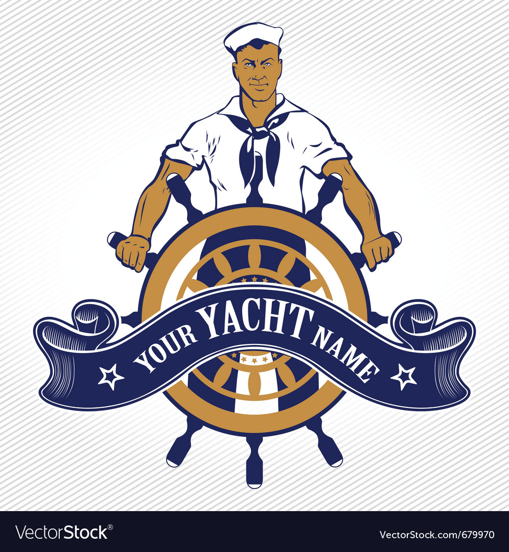 Sailor man emblem vector | Price: 3 Credit (USD $3)