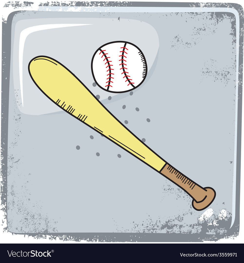 Baseball sports theme vector | Price: 1 Credit (USD $1)