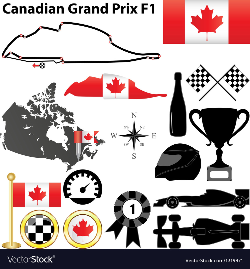 Canada grand prix f1 vector | Price: 1 Credit (USD $1)