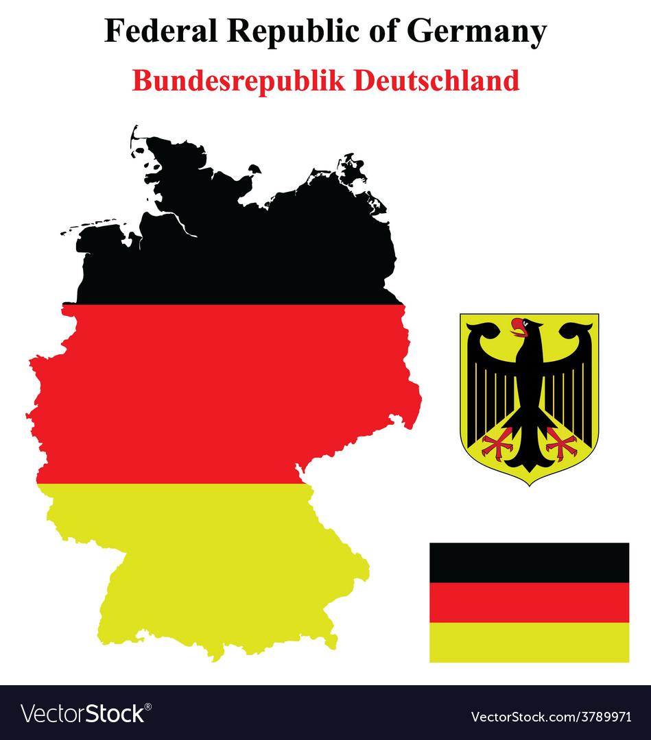 German flag vector | Price: 1 Credit (USD $1)