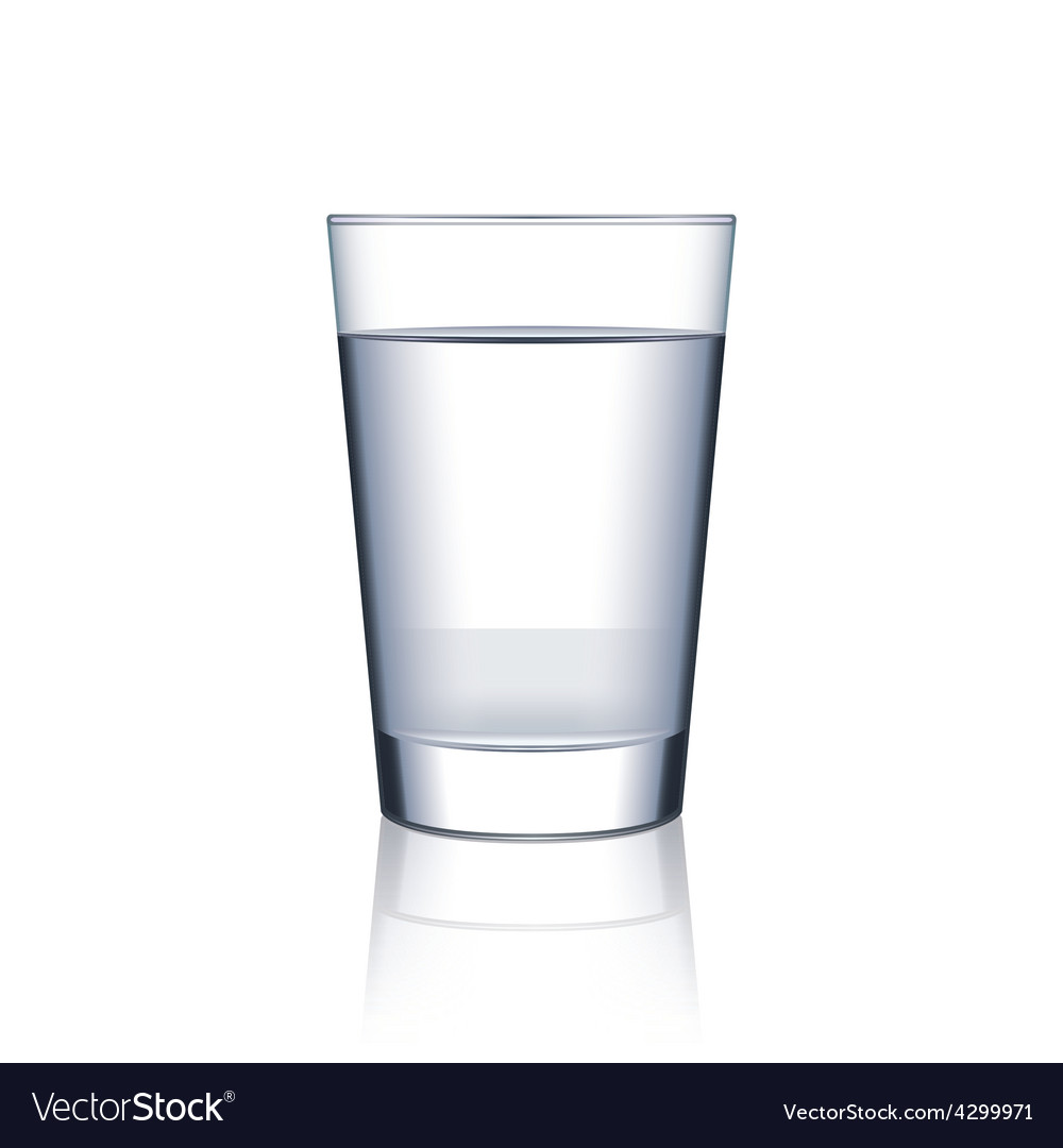 Glass of water isolated on white vector | Price: 3 Credit (USD $3)