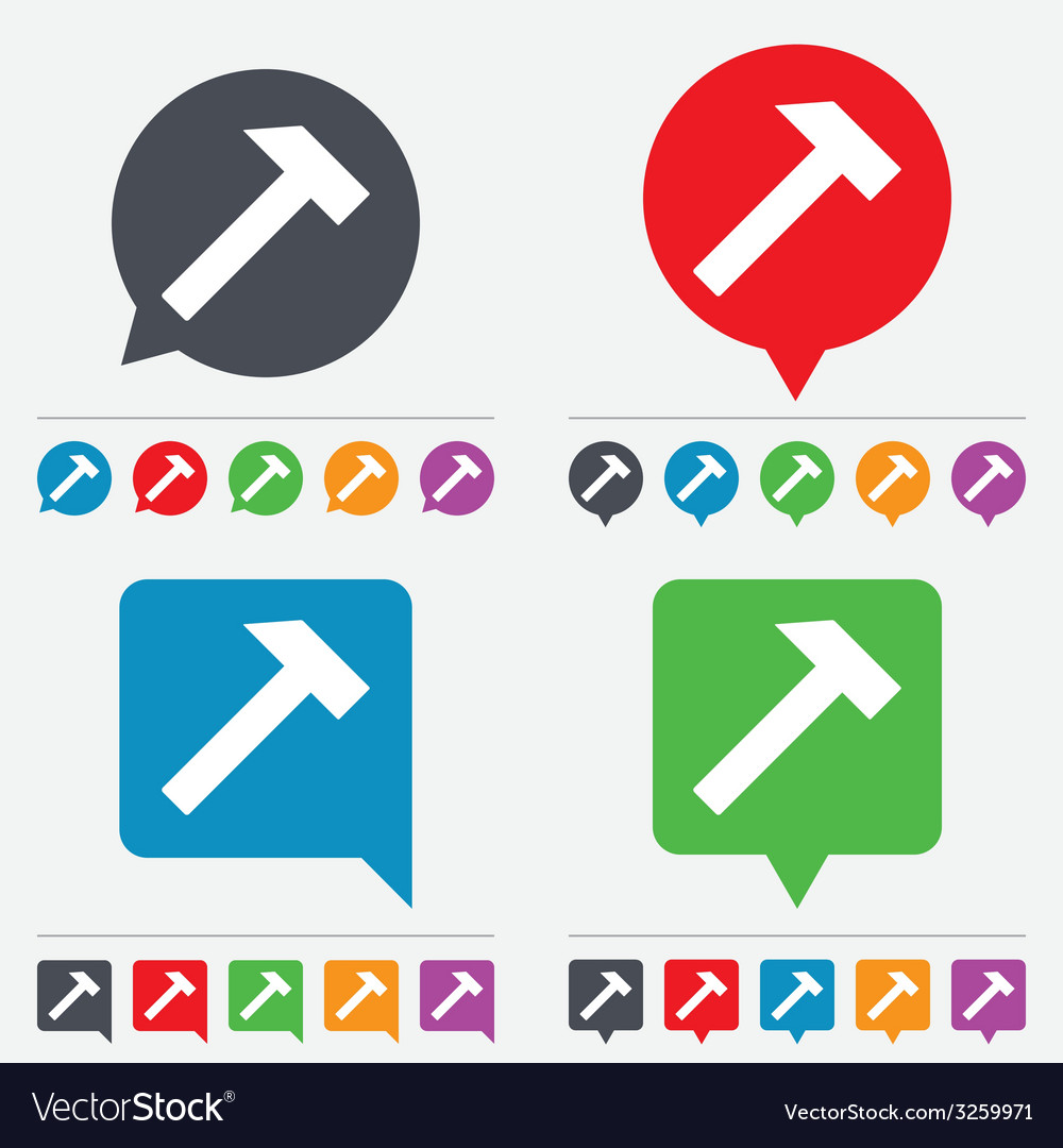Hammer sign icon repair service symbol vector | Price: 1 Credit (USD $1)