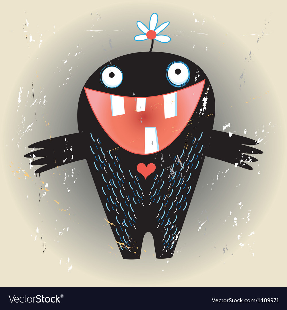 Love monster vector | Price: 1 Credit (USD $1)