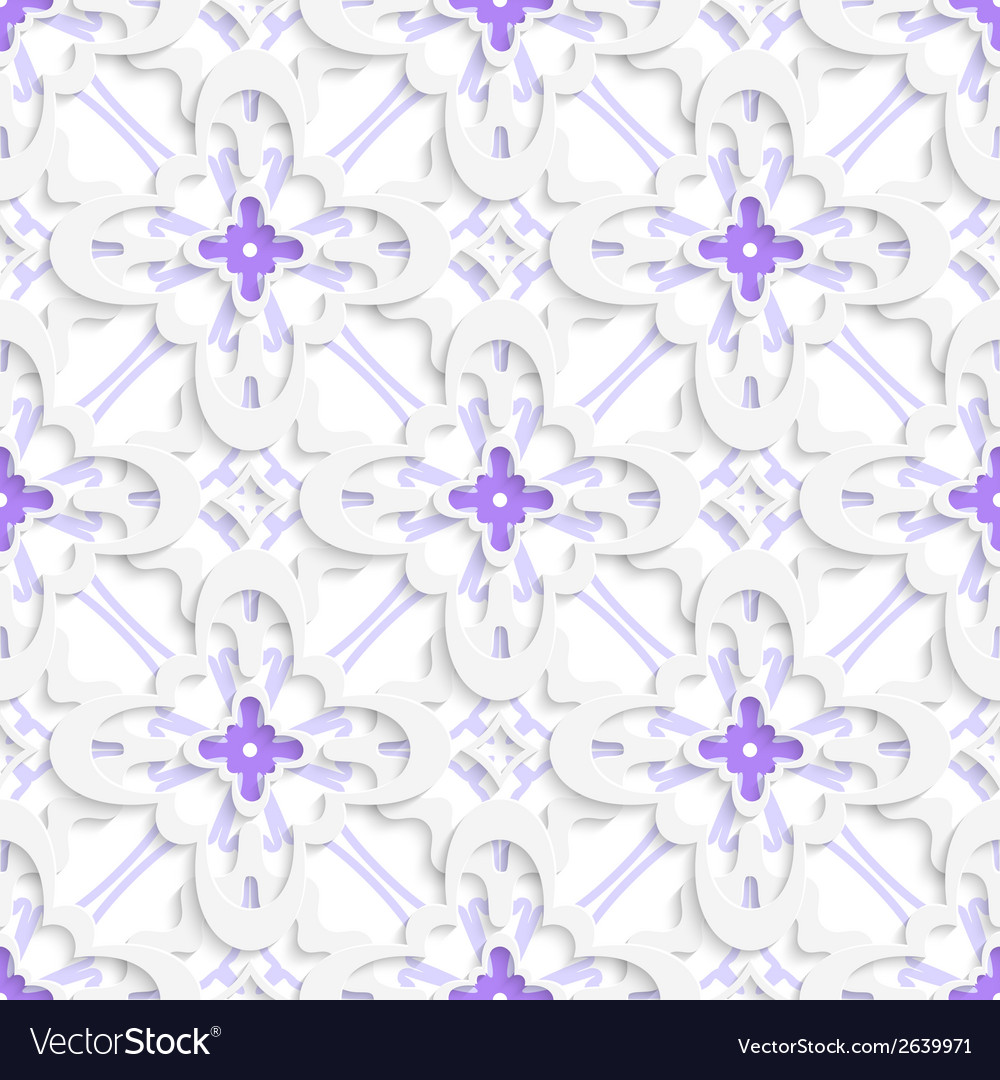 Pattern with white and purple layers vector | Price: 1 Credit (USD $1)