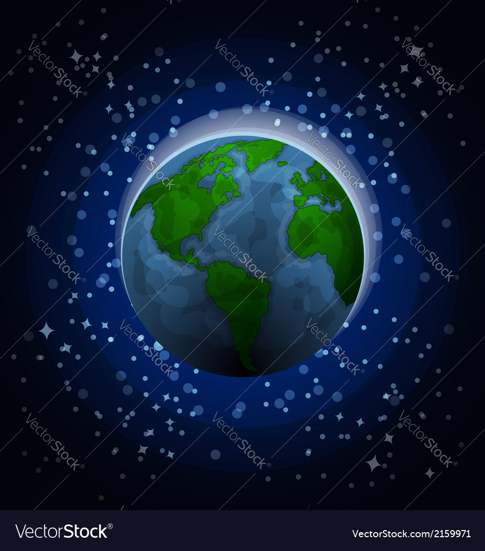 Planet earth in space vector | Price: 1 Credit (USD $1)