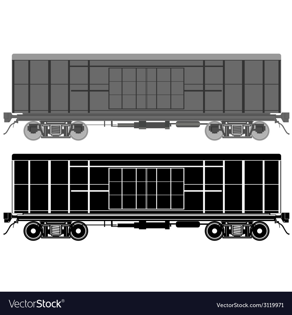Railway wagon-1 vector | Price: 1 Credit (USD $1)