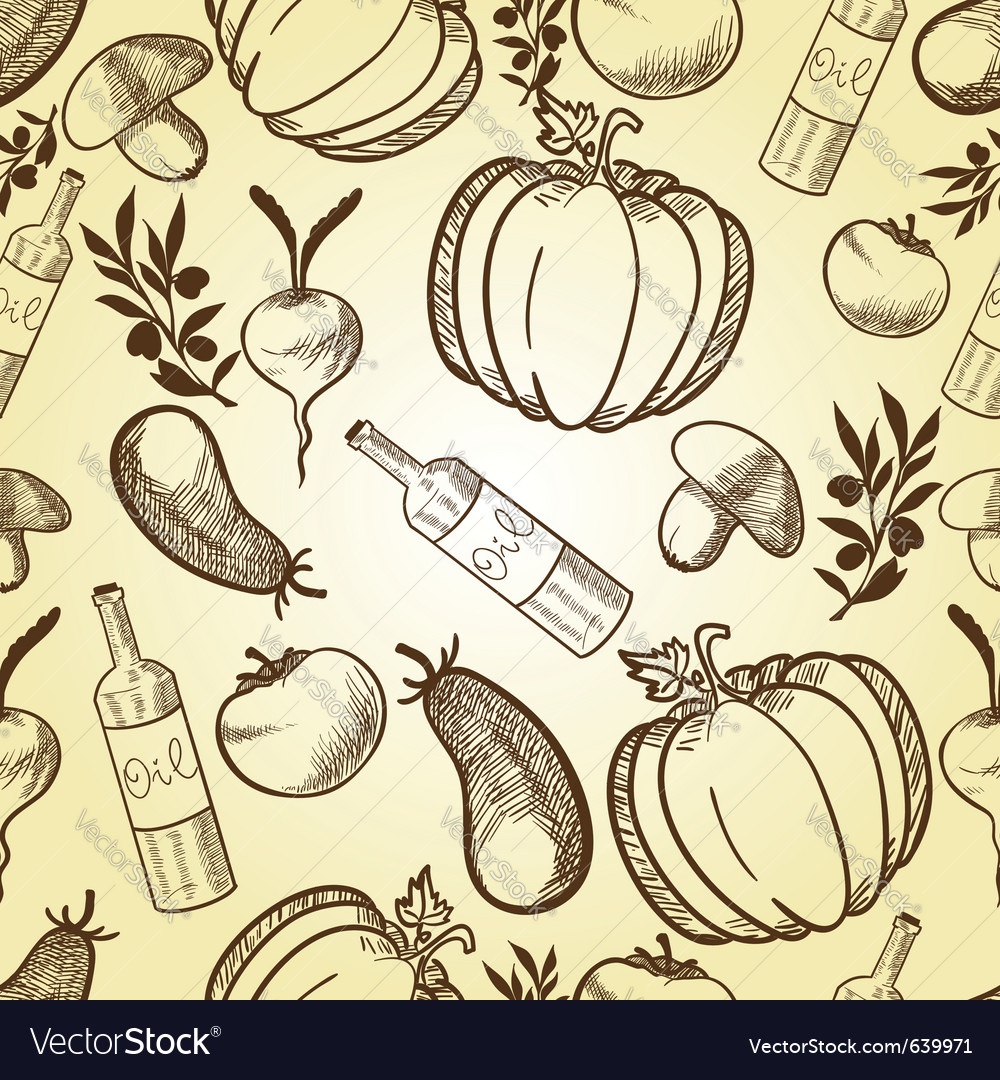 Vegetables in retro style vector | Price: 1 Credit (USD $1)