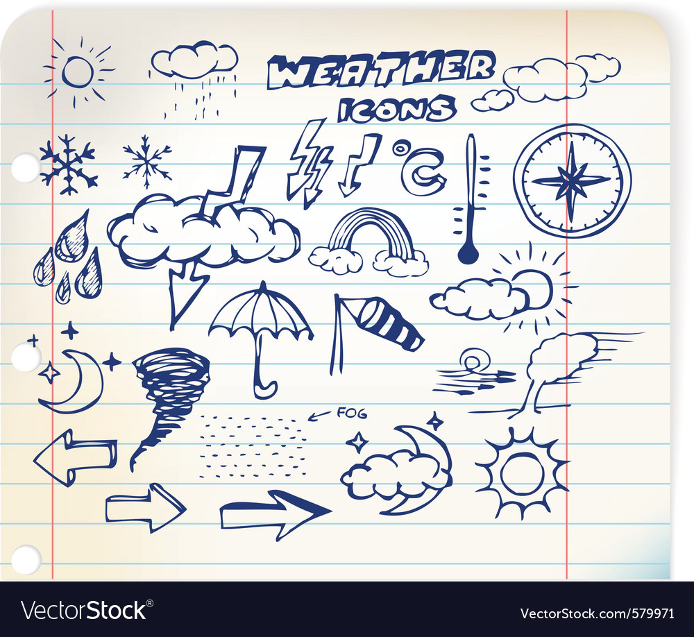 Weather hand drawing vector | Price: 1 Credit (USD $1)