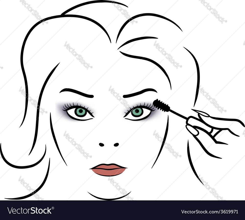 Woman makeup vector | Price: 1 Credit (USD $1)