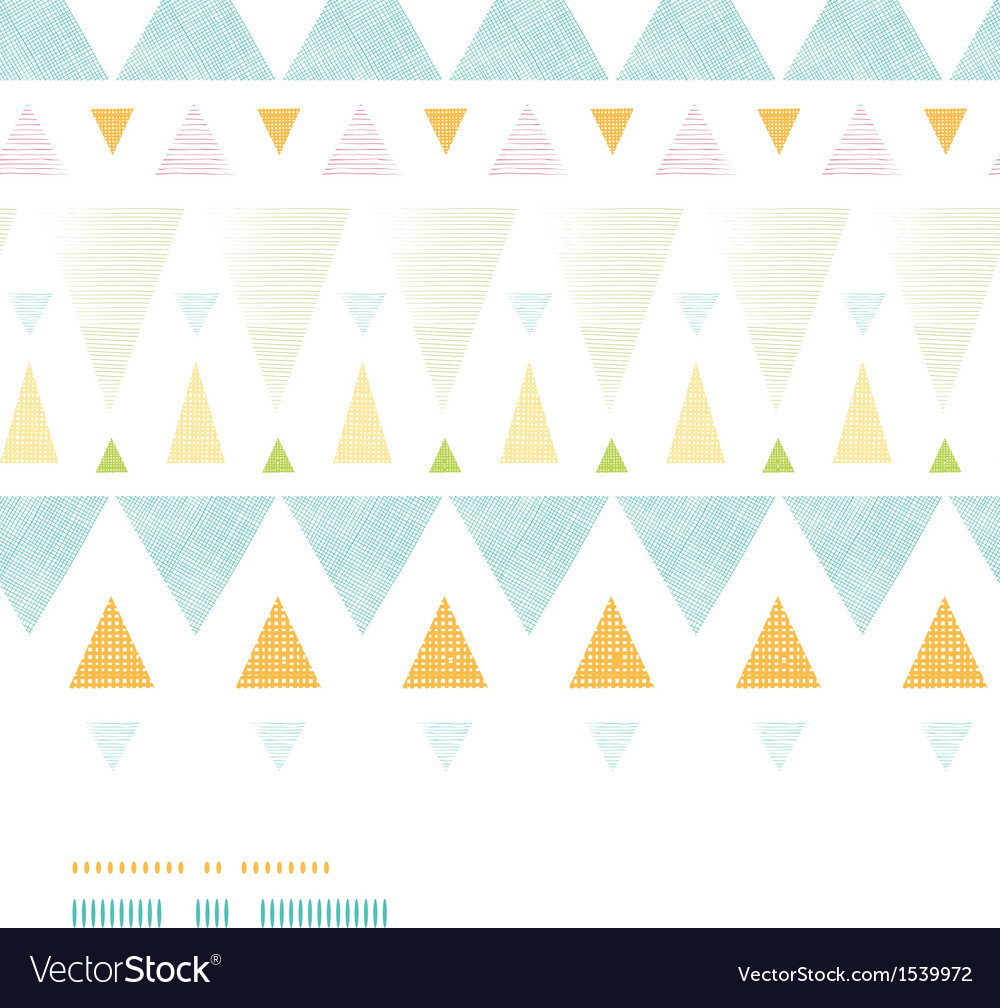 Abstract ikat triangles stripes horizontal vector | Price: 1 Credit (USD $1)