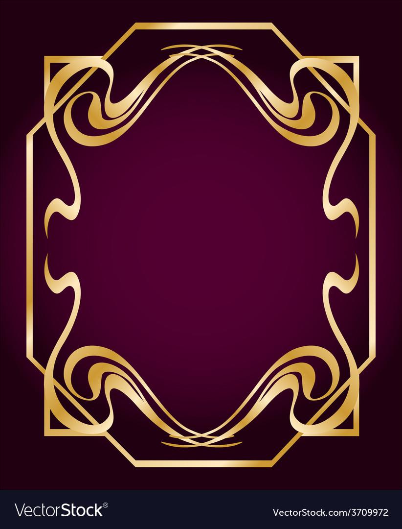 Art deco style border vector | Price: 1 Credit (USD $1)