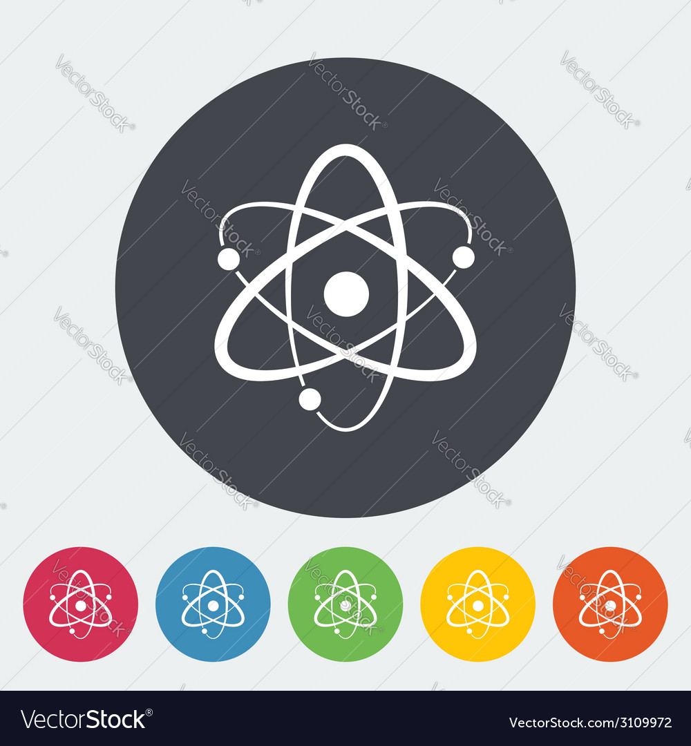 Atom icon vector | Price: 1 Credit (USD $1)