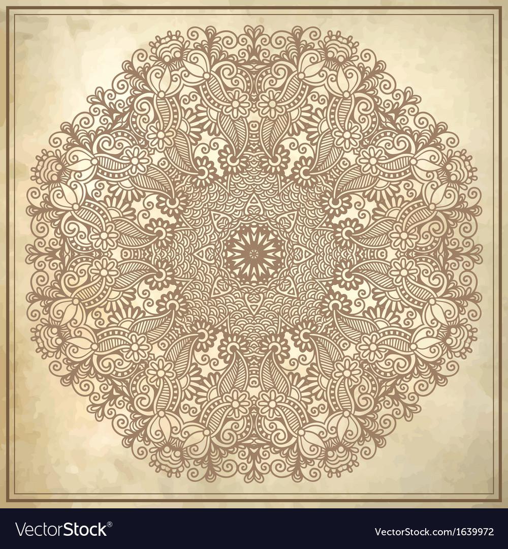 Circle design on grunge background vector | Price: 1 Credit (USD $1)