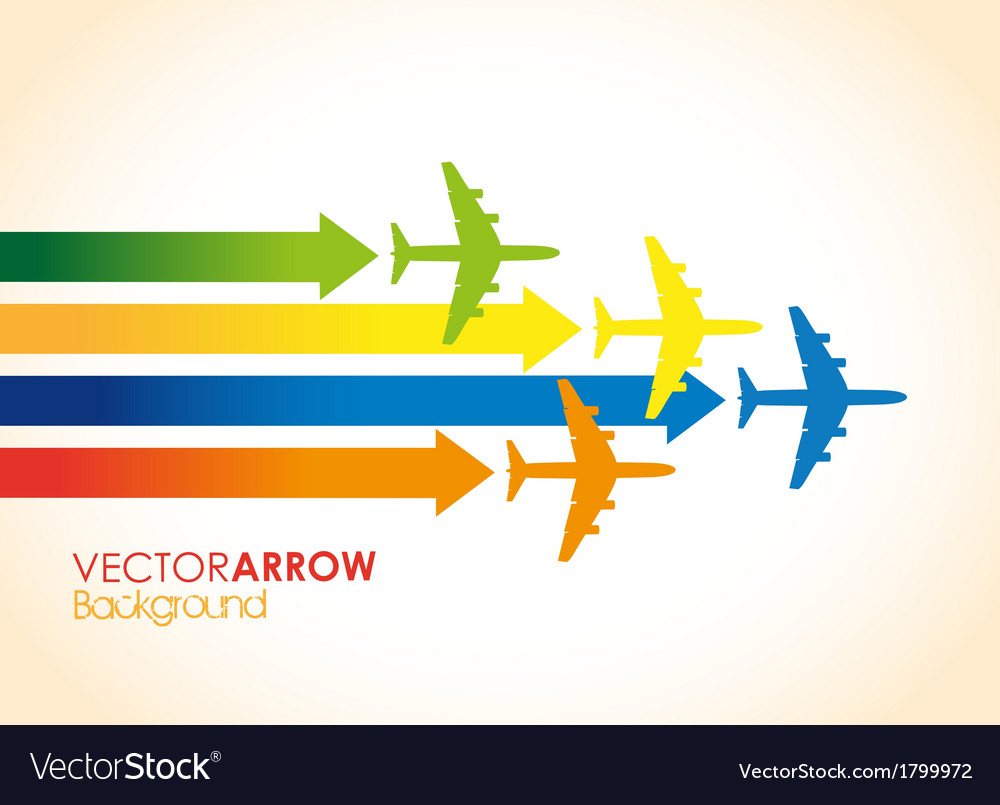Colourful planes vector | Price: 1 Credit (USD $1)