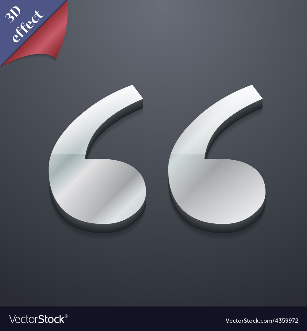 Double quotes at the beginning of words icon vector | Price: 1 Credit (USD $1)