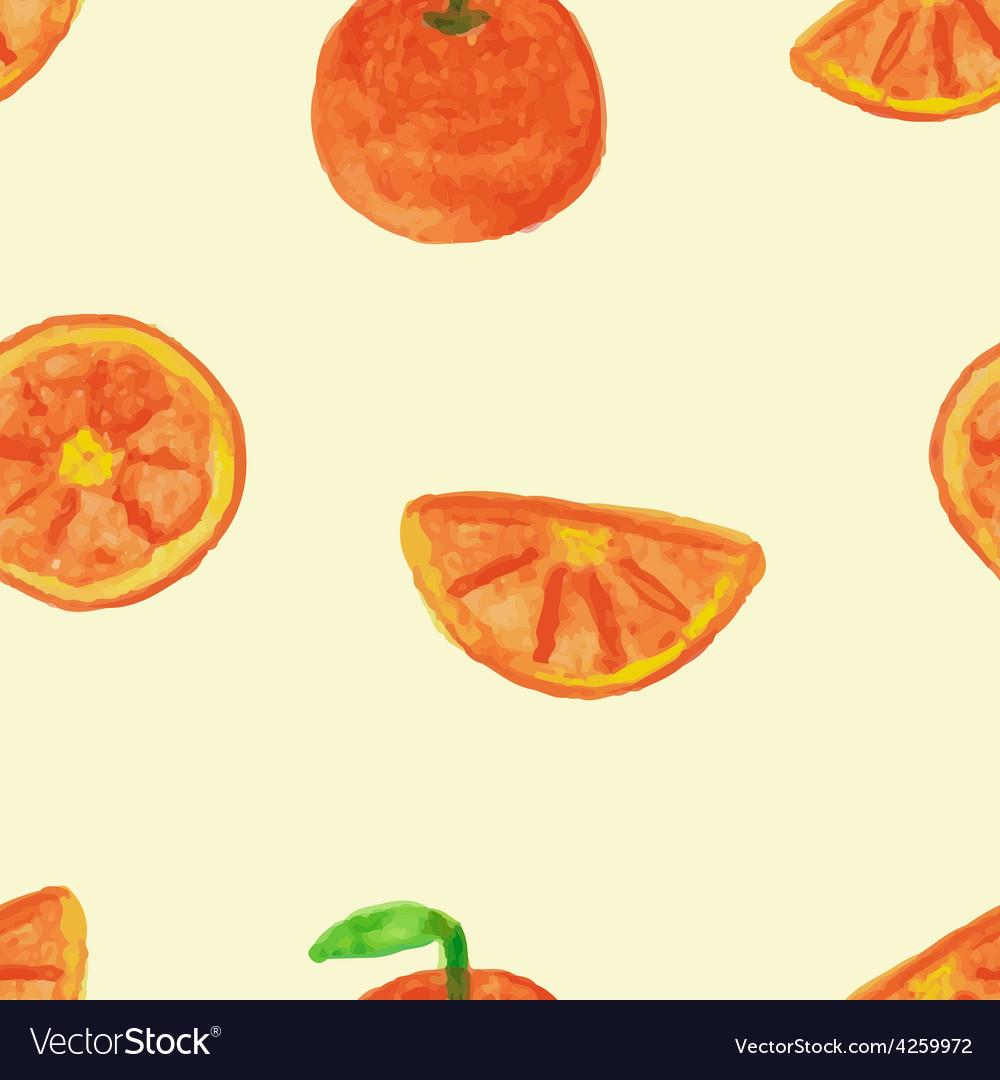 Seamless pattern of orange vector | Price: 1 Credit (USD $1)