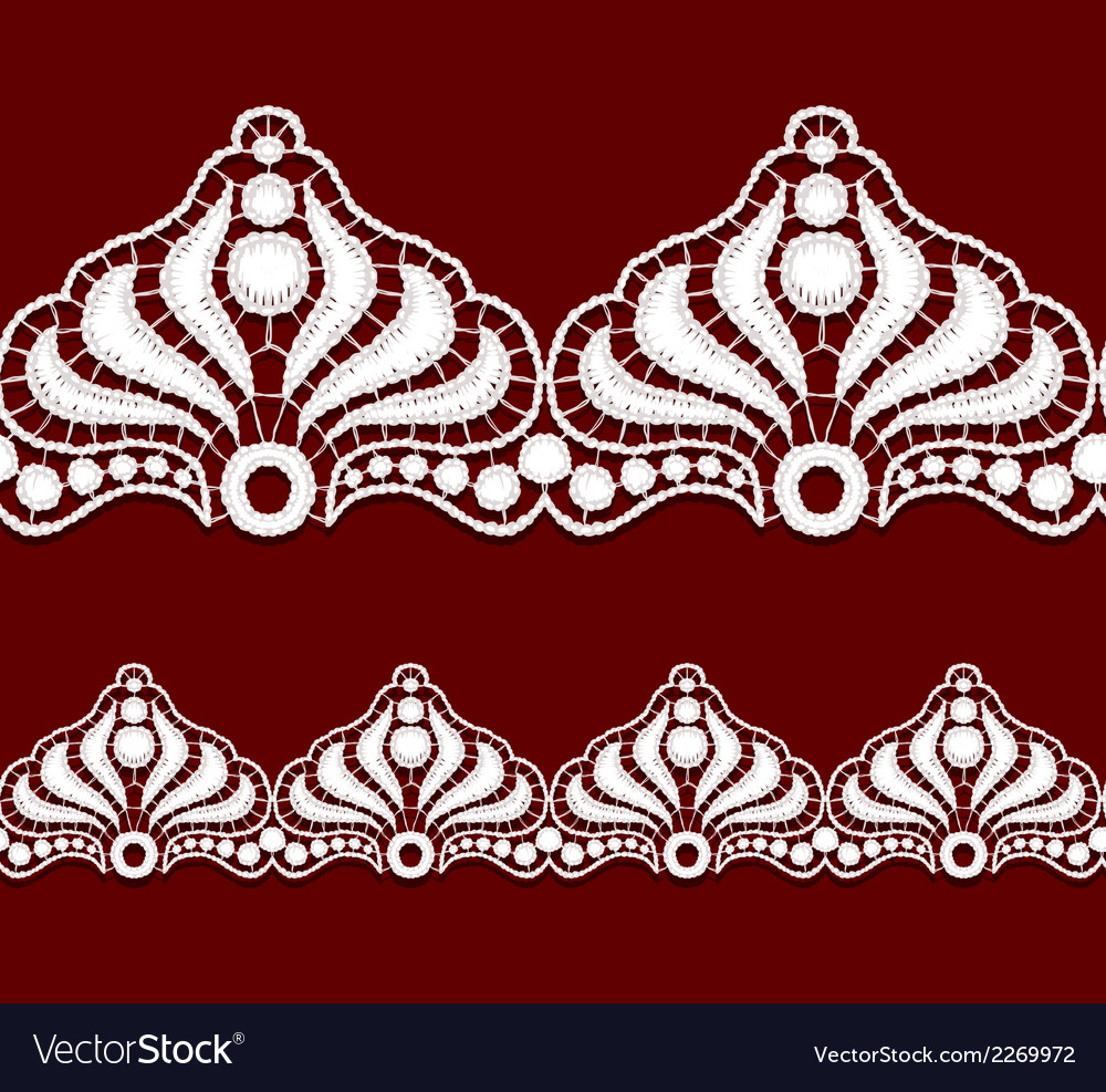 Seamless penwork lace border realistic vector | Price: 1 Credit (USD $1)