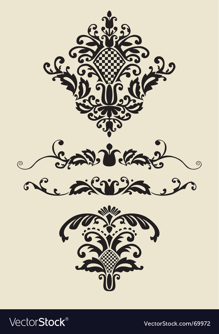 Set of ornaments for design vector | Price: 1 Credit (USD $1)