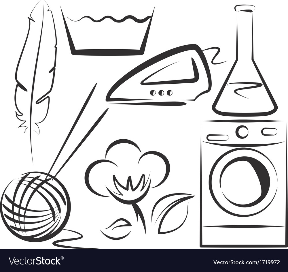 Washing items set vector | Price: 1 Credit (USD $1)