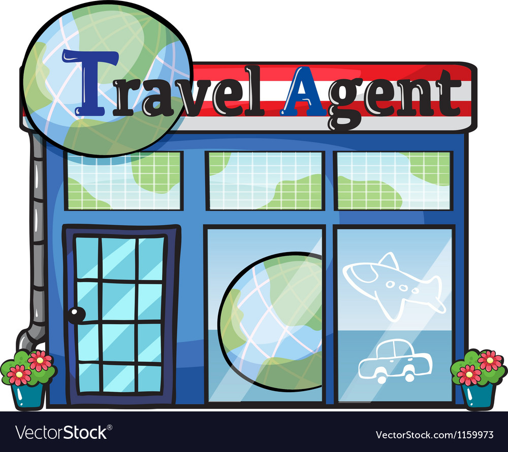 A travel agent office vector | Price: 1 Credit (USD $1)