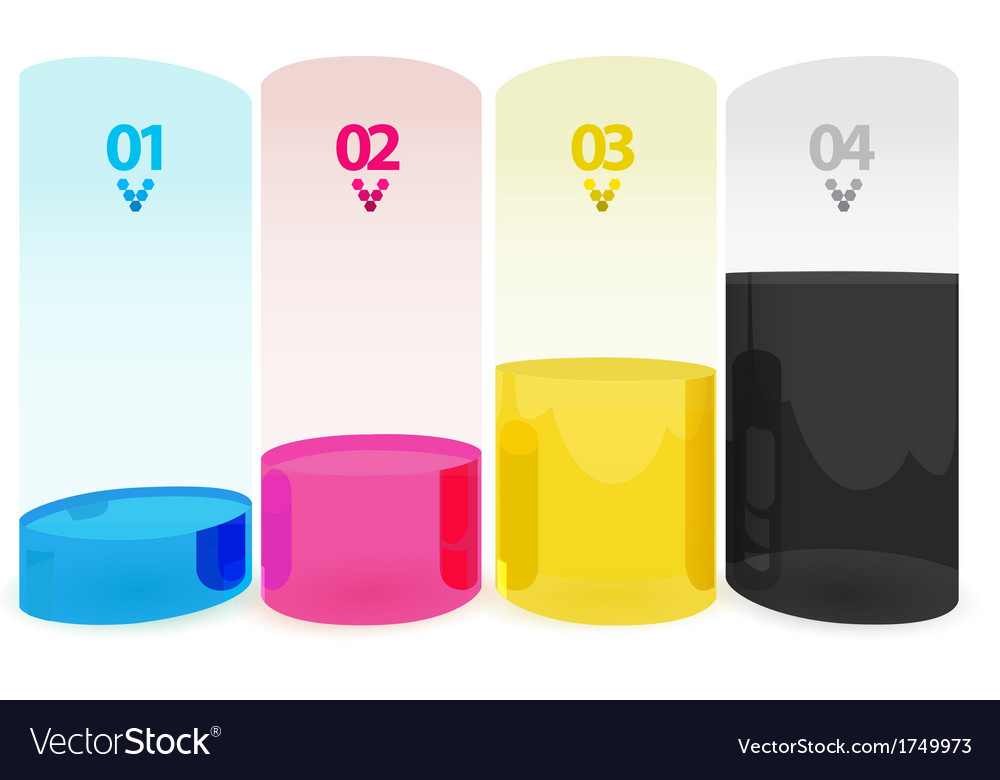 Cmyk tube vector | Price: 1 Credit (USD $1)