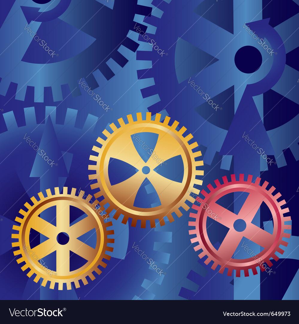 Golden gears vector | Price: 1 Credit (USD $1)