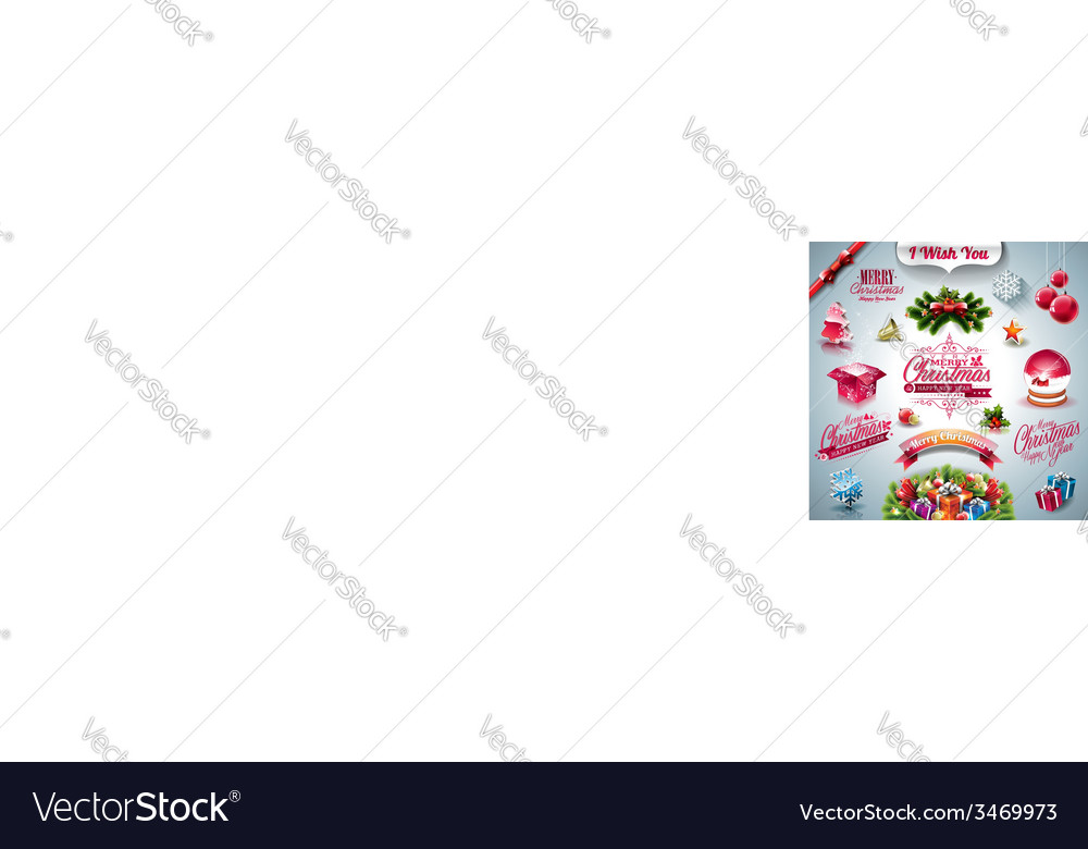 Holiday collection for a christmas theme vector | Price: 5 Credit (USD $5)