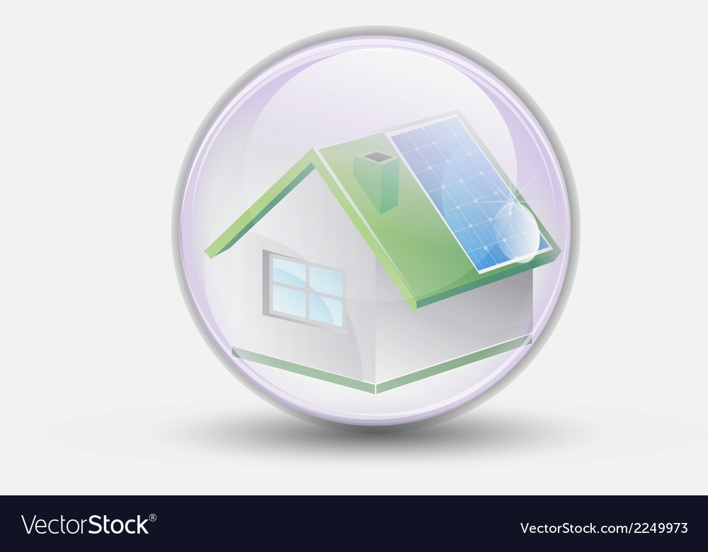 House renewable bubble water clear vector | Price: 1 Credit (USD $1)