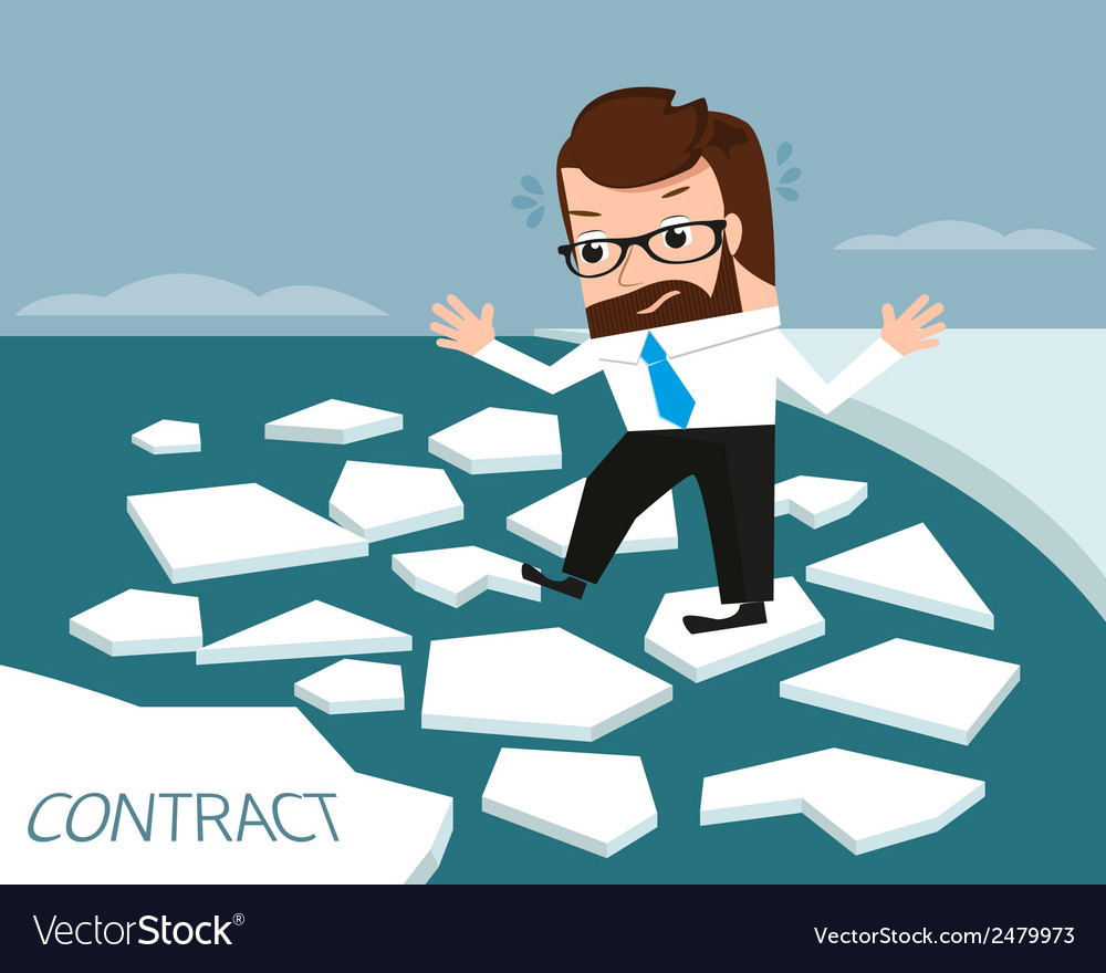 Lucky businessman on ice river vector | Price: 1 Credit (USD $1)