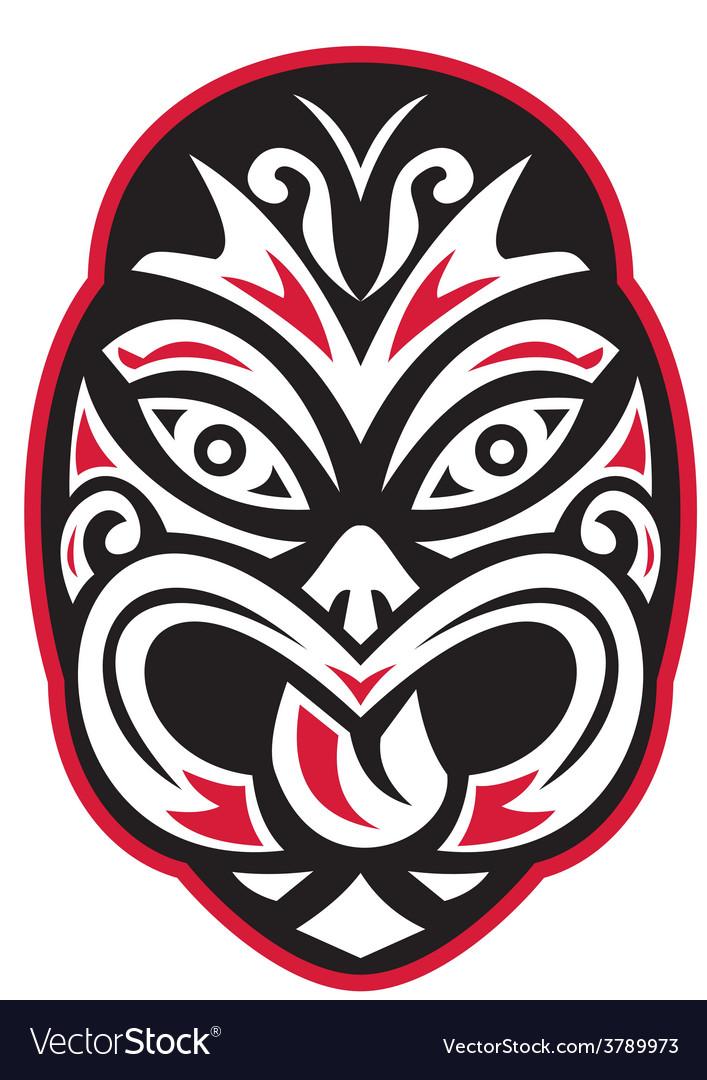 Maori tiki moko tattoo mask vector | Price: 1 Credit (USD $1)