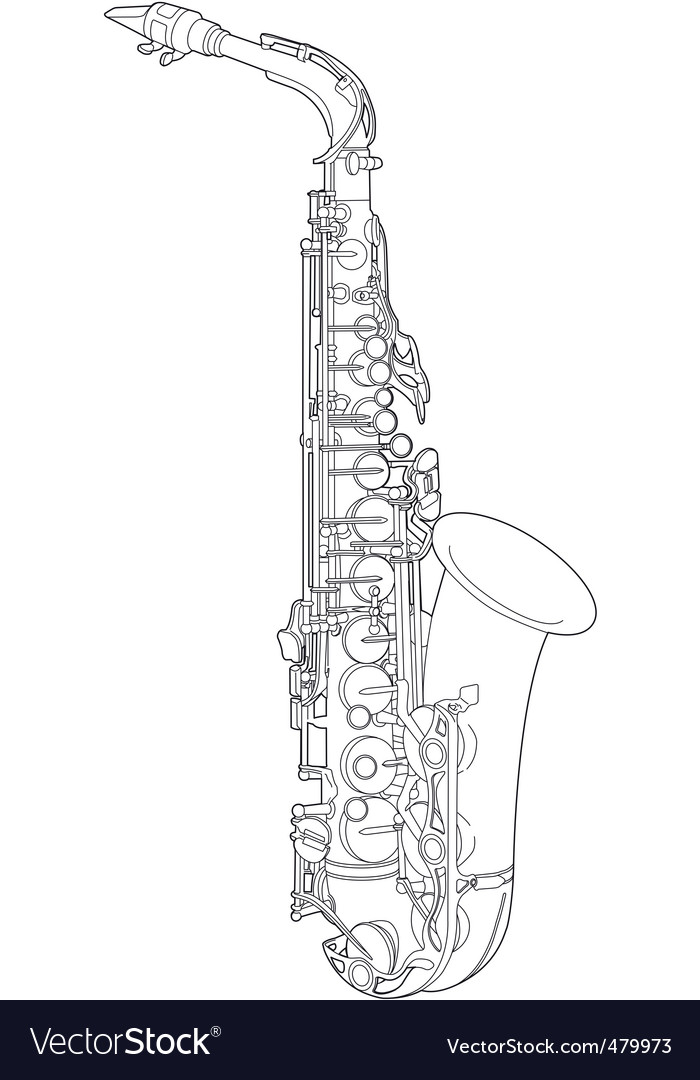 Saxophone sketch vector | Price: 1 Credit (USD $1)