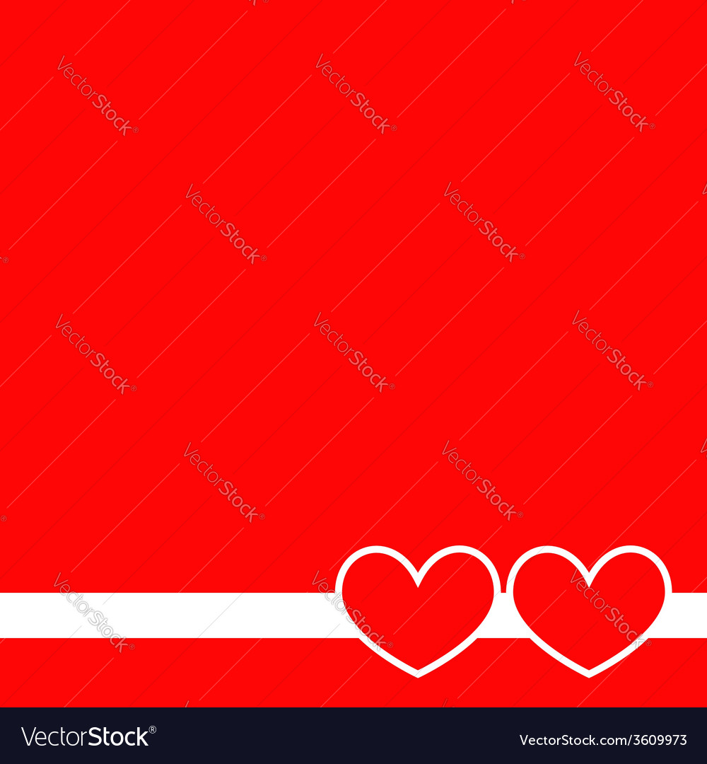 Two hearts on a red background vector | Price: 1 Credit (USD $1)