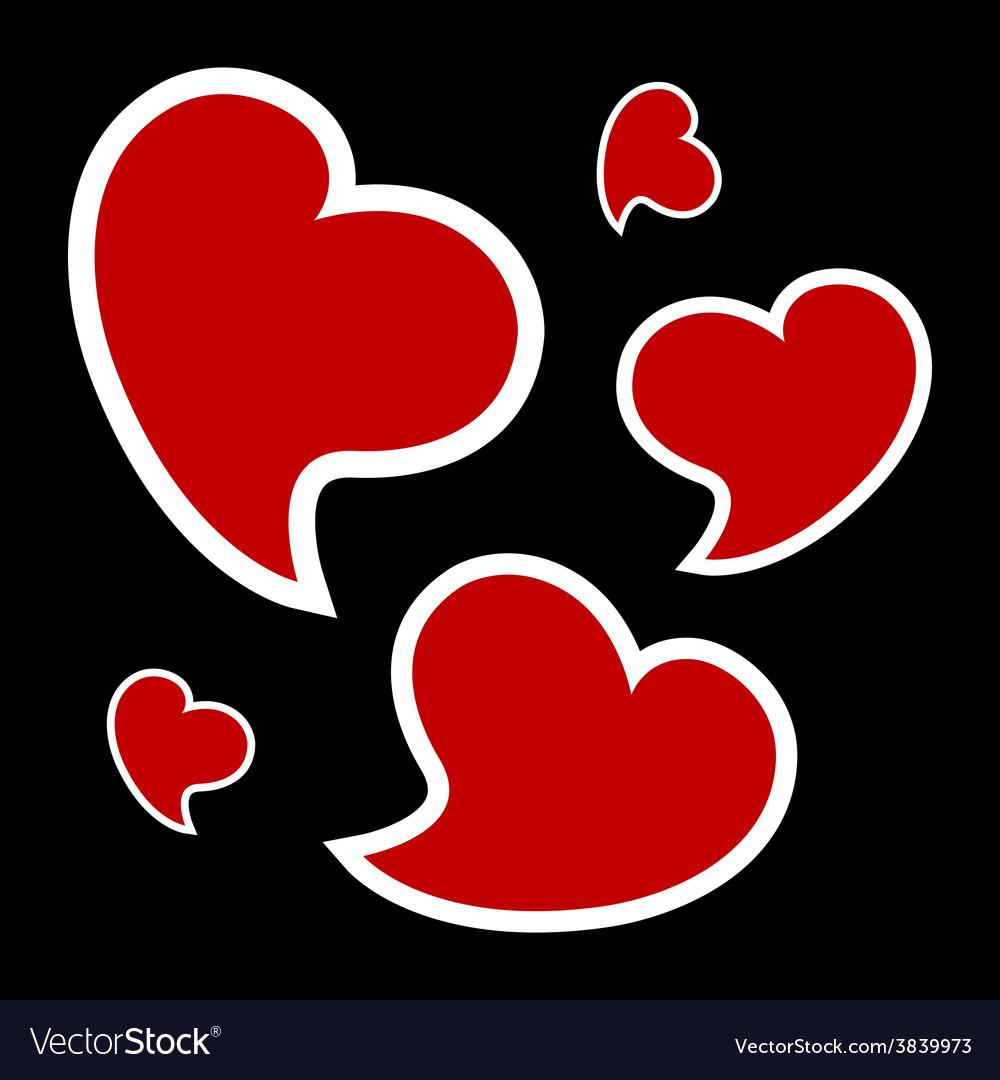 Valentines card - three hearts vector | Price: 1 Credit (USD $1)