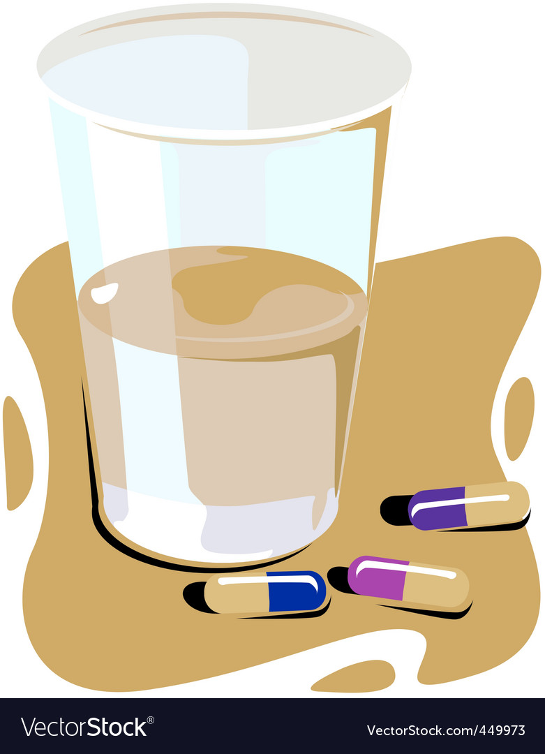 Water and pills vector | Price: 1 Credit (USD $1)