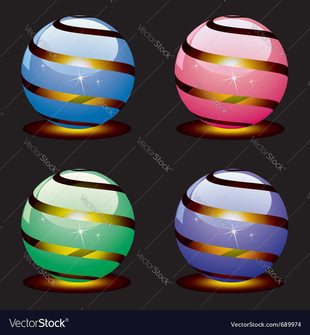 3d shiny globes vector | Price: 1 Credit (USD $1)