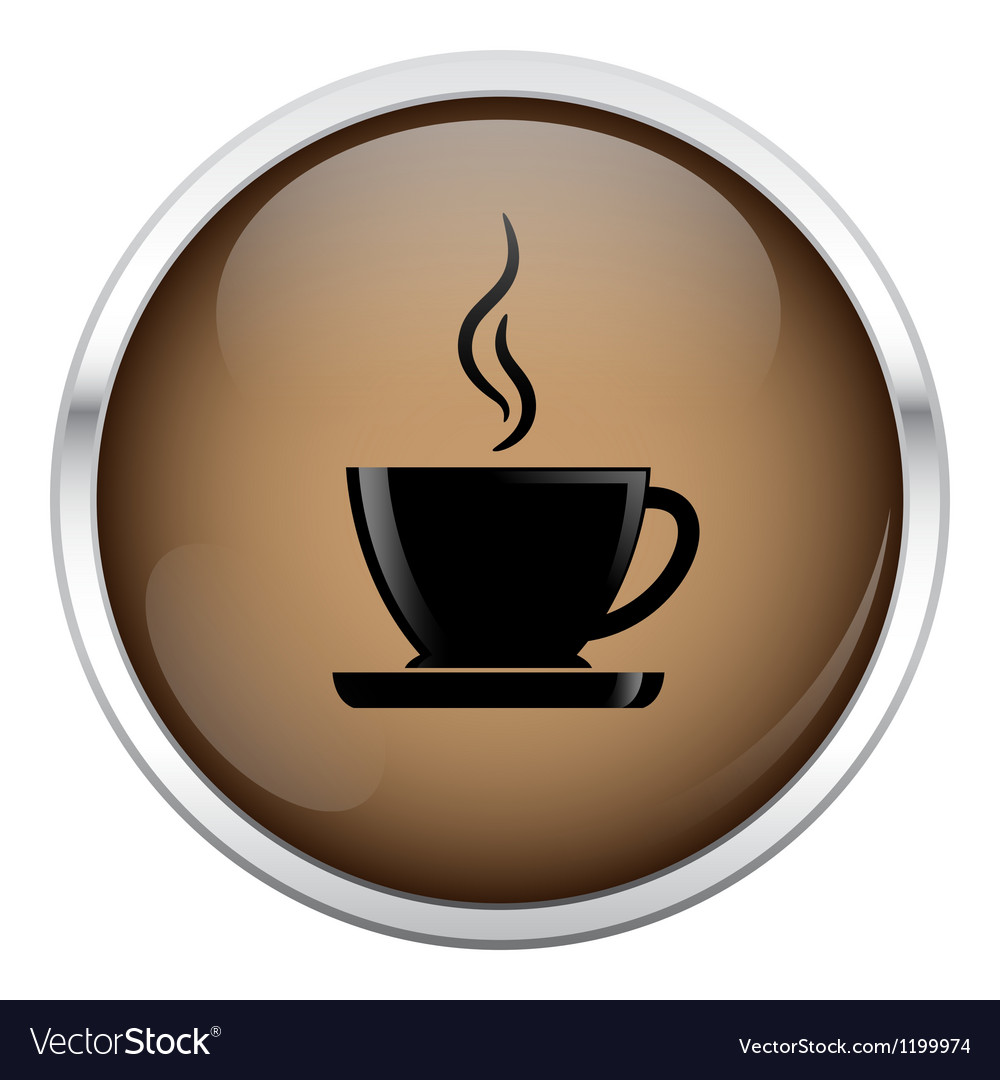 Brown coffee icon vector   Price: 1 Credit (USD $1)