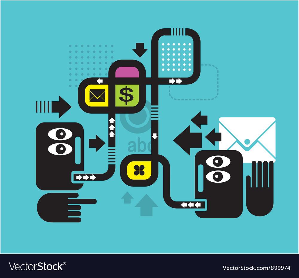 Communication vector | Price: 3 Credit (USD $3)