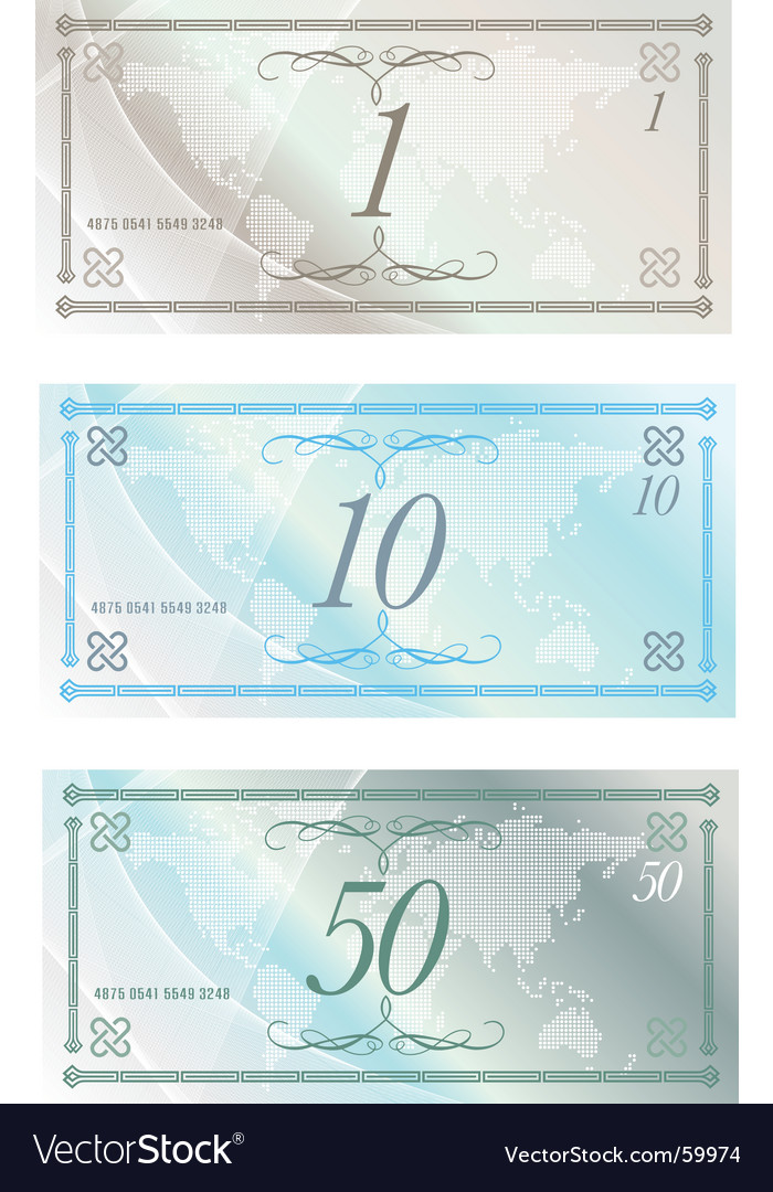 Money notes vector | Price: 1 Credit (USD $1)