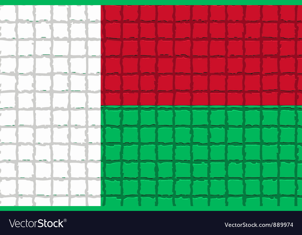 The mosaic flag of madagascar vector | Price: 1 Credit (USD $1)
