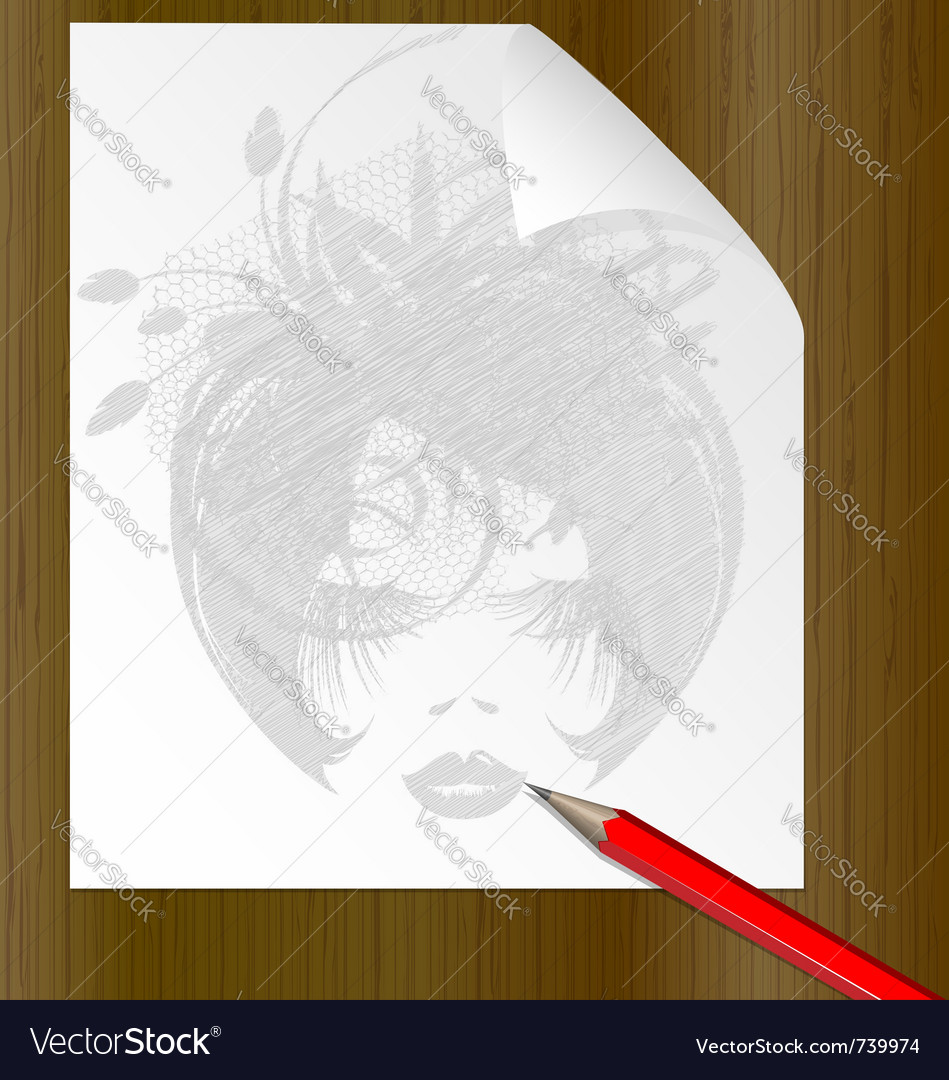 Pencil dame vector | Price: 1 Credit (USD $1)