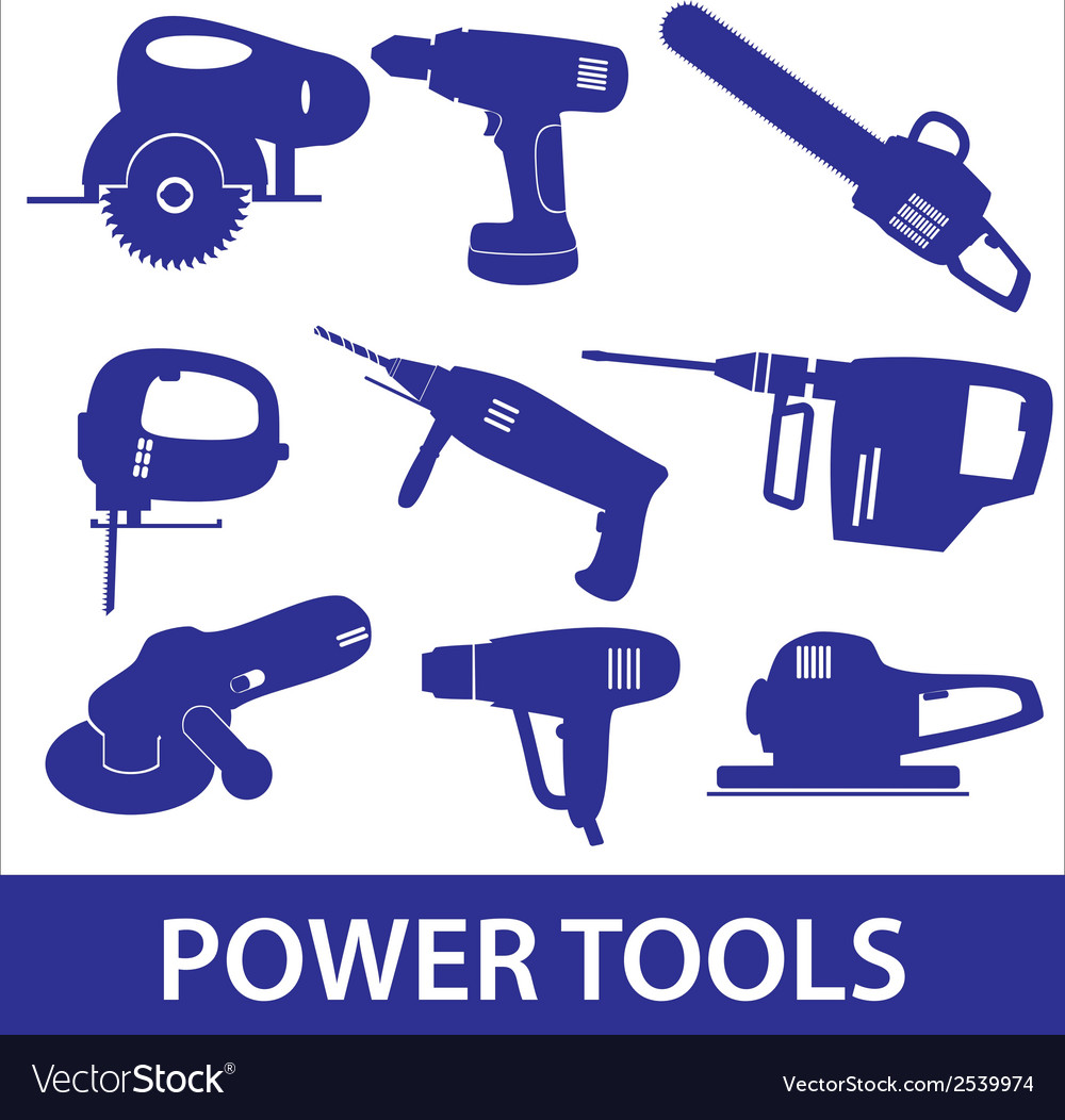 Power tools icon set eps10 vector | Price: 1 Credit (USD $1)