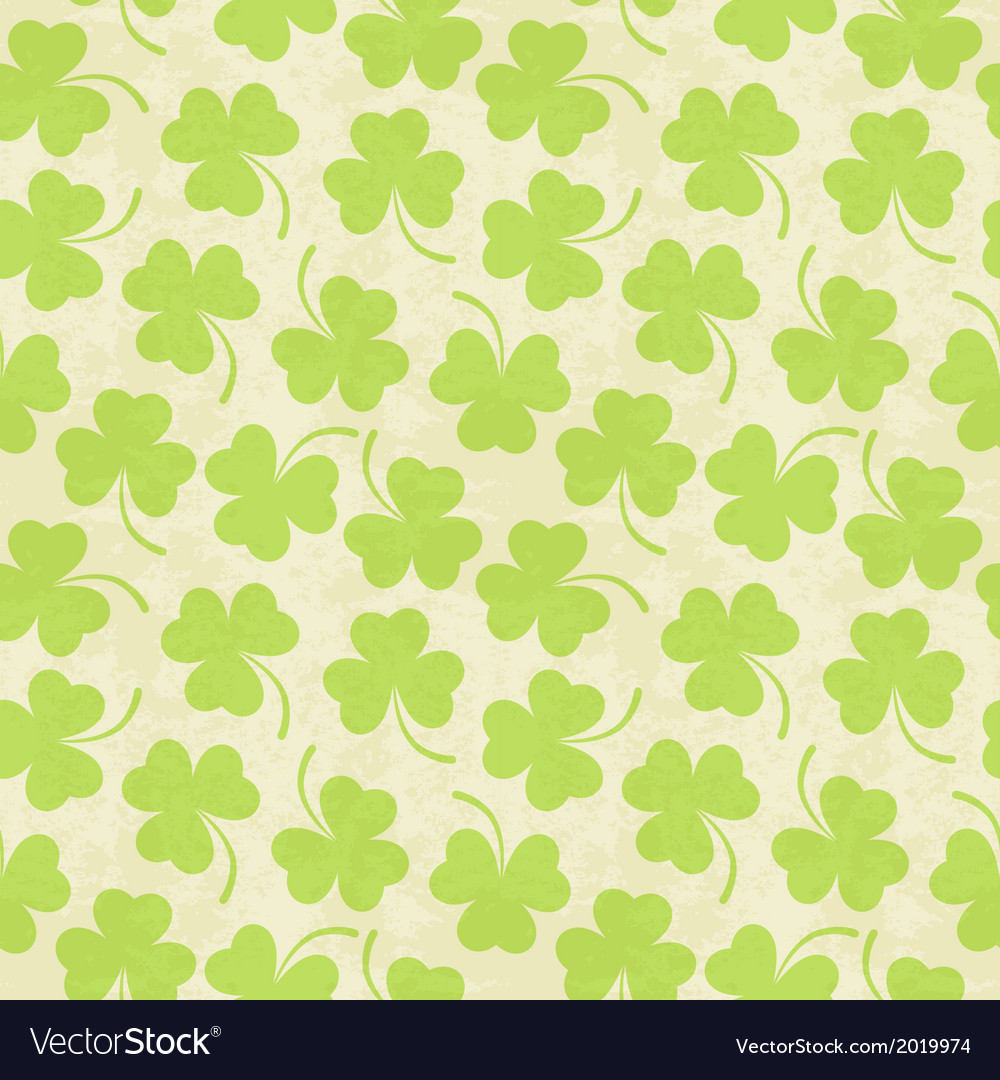 Seamless clover background for st patricks day vector | Price: 1 Credit (USD $1)