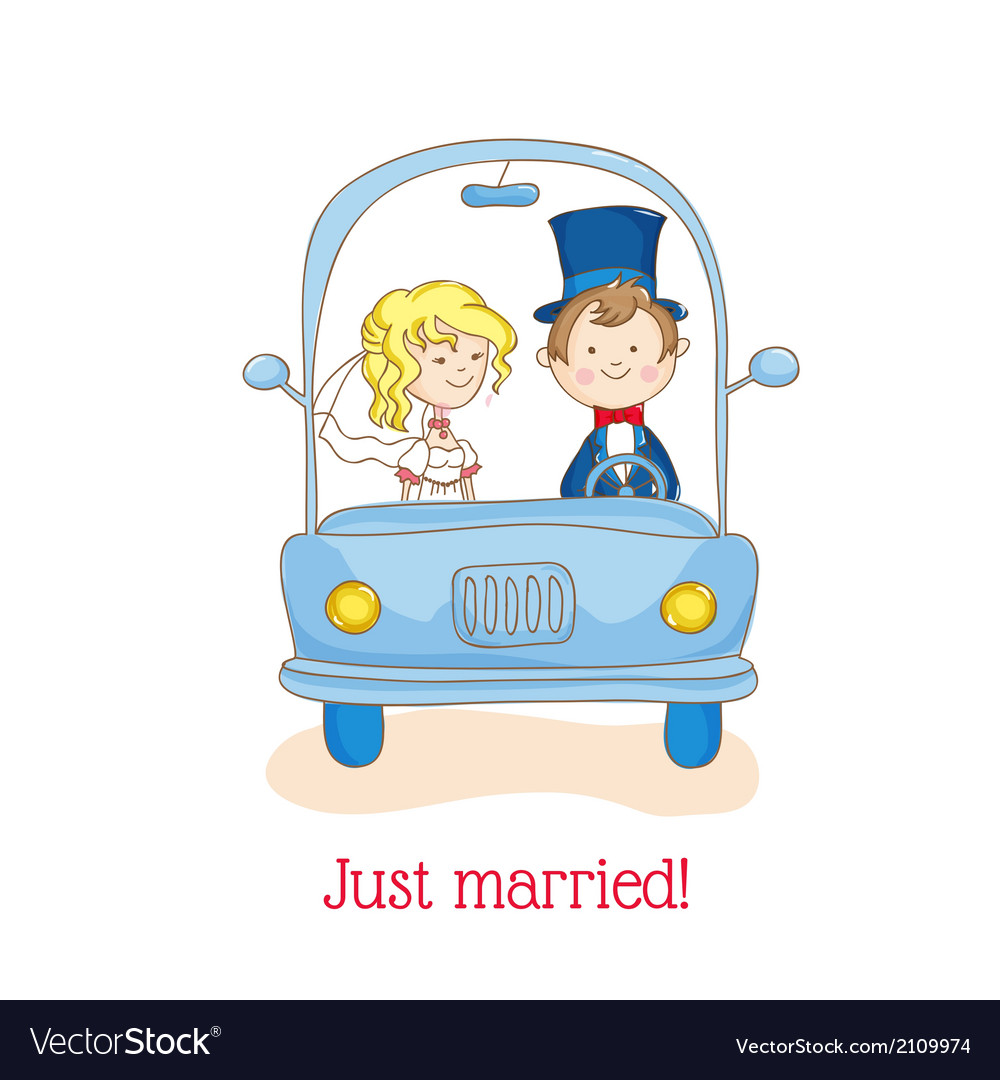Wedding invitation card - just married vector   Price: 1 Credit (USD $1)