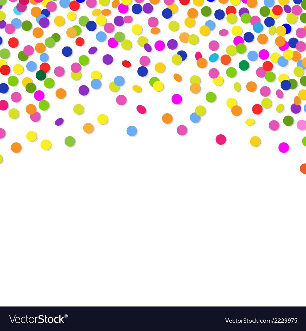 Color confetti frame vector | Price: 1 Credit (USD $1)