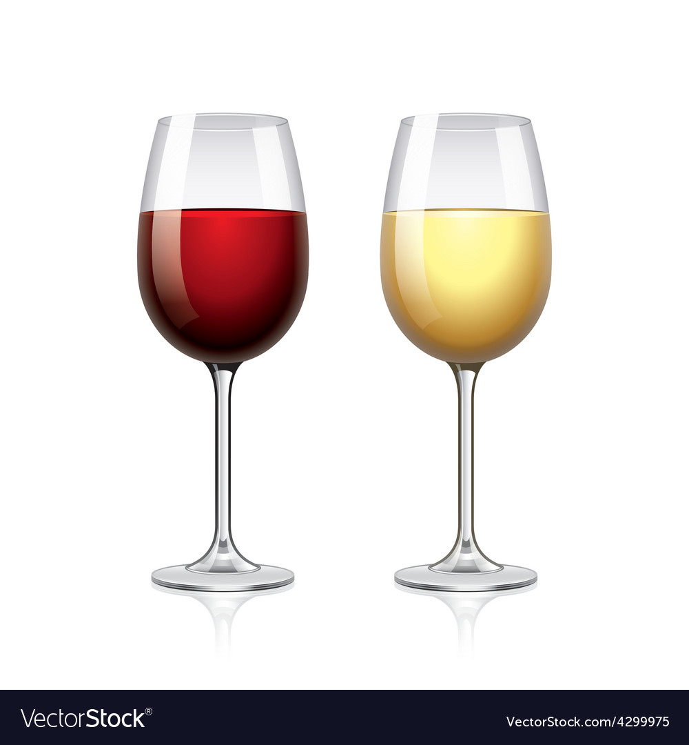 Glass of wine isolated on white vector | Price: 3 Credit (USD $3)